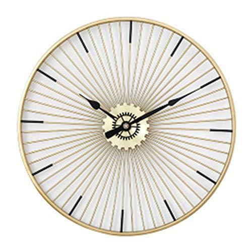 YZMKD Wanduhr Im Modernen Design Personalisierte Luxury Golden Geformte Dekorative Uhren Hanging Tischuhr Elektronische Mute Die GrößE Von 60cm Kreative Wanduhr Wohnzimmer Im EuropäIschen,Gold