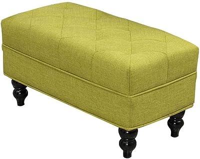 Magnificent Amazon Com Elle Decor Quinn Round Tufted Ottoman With Creativecarmelina Interior Chair Design Creativecarmelinacom