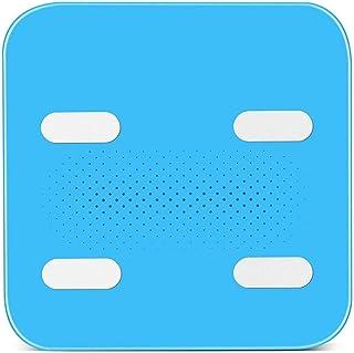 Básculas, Báscula de Peso Digital, Báscula de baño de Alta precisión, Pantalla Negra Grande Digital de fácil Lectura (Color: Blanco) Portátil