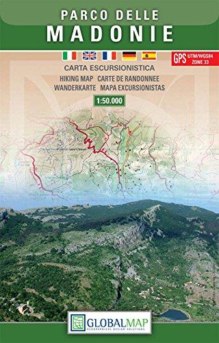 Sizilien Wanderkarte: Parco delle Madonie / Naturpark Madonie 1:50.000 ( Nord-Sizilien, Cafalú, Polizzi Generosa, Collesano, Caltavuturo, Petralia, Castelbuono) – LAC / Globalmap