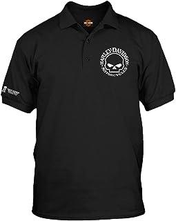 Harley-Davidson Military - Men's Black 3-Button Polo Sport Shirt - Overseas Tour | Willie G