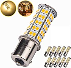10x Super Bright 1156 1141 1003 BA15S 68-SMD LED Replacement Light Bulbs for RV Indoor Lights(10-Pack, Warm White (3000K-3500K Color Temputure))