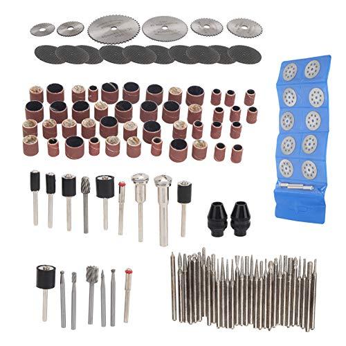 121 piezas de accesorios de lijadora eléctrica, pequeño conjunto de herramientas de pulido de papel de lija para cortador de sierra circular