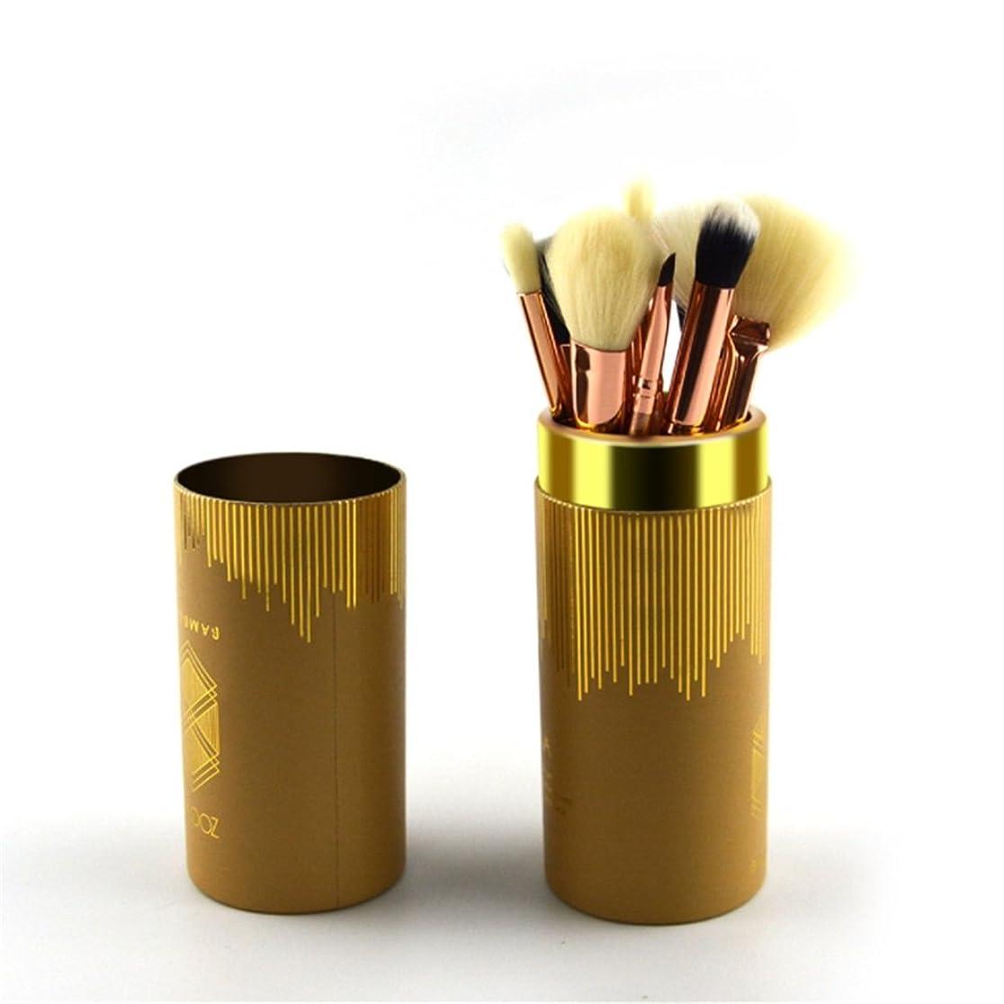 残りメイドそれるPUレザー化粧筆ーチ スタイリッシュなスタイルの化粧ブラシセット8個の顔の化粧ブラシ化粧ブラシセット 柔らかくまた滑らかで (色 : 赤)