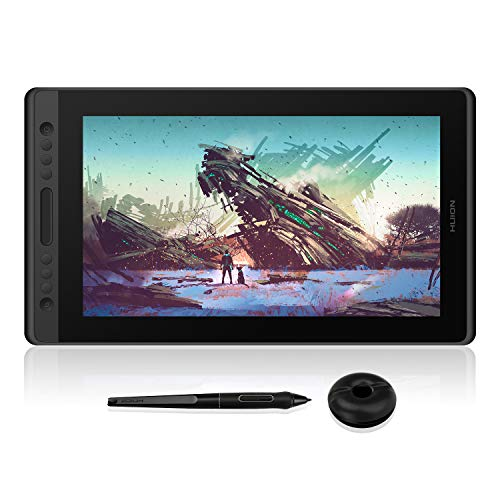 HUION Kamvas Pro 16 Drawing Monitor Pen Display 15.6 Inch IPS Full-Laminated Graphic Tablets with Screen, 8192 Battery-Free Pen, Works with Chromebook