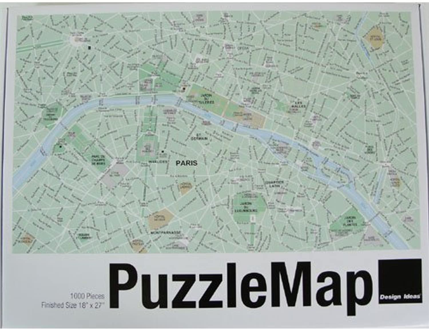 Design Ideas Puzzle Map, Paris