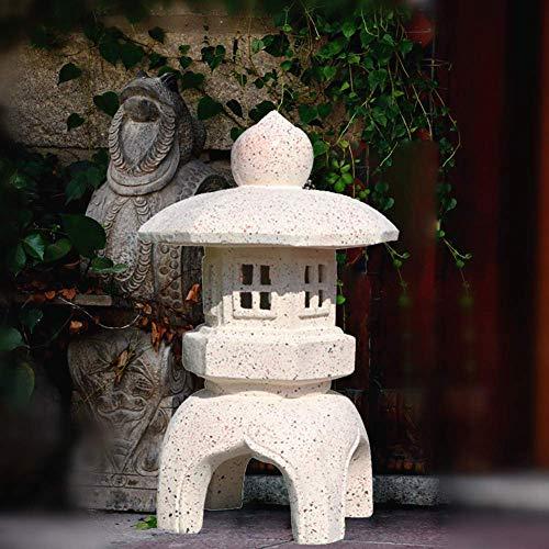 Japanese Style Lantern Solar Garden Lamp Solar Pagoda Light Garden Courtyard Decoration,B