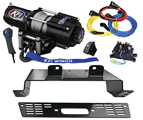 KFI Combo Kit - U45-R2 4500lbs Winch, Mount Bracket, Wiring, Switches, Remote Kit - compatible with 2014-2018 Polaris 570 Ranger 4x4 - Midsize