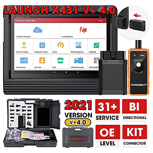 LAUNCH X431 V+ PRO 4.0 (2021 Elite Upgrade of X431 PROS V4.0) Bidirectional Scanner Full System Diagnostic Tool, 31+ Reset Functions, AutoAuth for FCA SGW, ECU Coding, Guided Function, Free Update