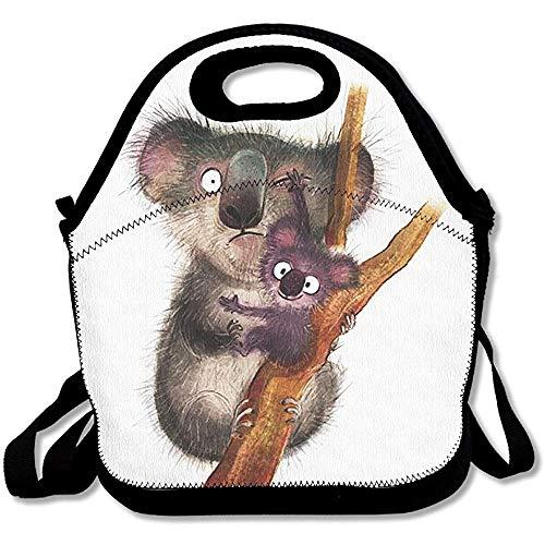 Leuke Koala Lunch Boxen Lunch Tassen Handtas Voedsel Opslag Past voor School Reizen Werk Outdoor