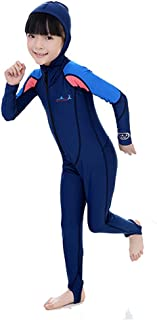 A Point UV Protection Swimsuit With Hood Long Sleeves Rash Guard For Kids Perfect Fit