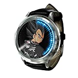 Anime Dragon Ball Z Goku Series Reloj táctil LED Relojes novedosos Relojes Deportivos Reloj Personalizado Relojes de Pulsera Unisex cumpleaños Edición de coleccionista-Plata