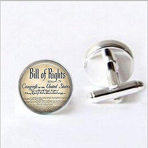 Bill of Rights Manschettenknöpfe Geschichte der Vereinigten Staaten Zehn änderungsanträge Verfassung Patriotische Manschettenknöpfe