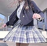 Gonnellino Kilt Scottish Skirt Gonna A Pieghe da Donna Casual Gonne Scozzesi Anime Gonne A Quadri Stile Giapponese Uniformi per Ragazza Scolastica Abito Corto XS Grigio B