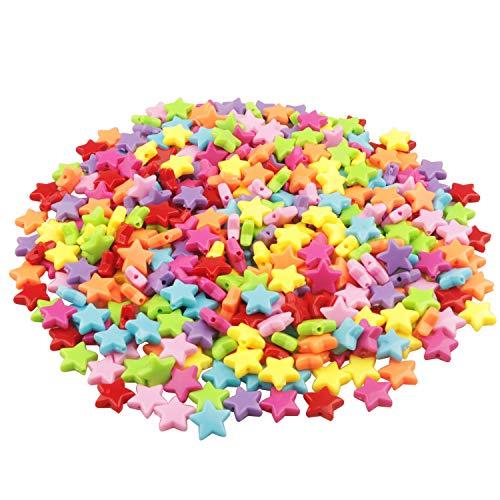 Yixuan LLC Colorato Acrilico Perle 400pcs 14mm Perline Artigianali Perline di Plastica per la Creazione di Gioielli, Oggettistica per la Casa, Braccialetto per Bambini, Collana, Ciondolo
