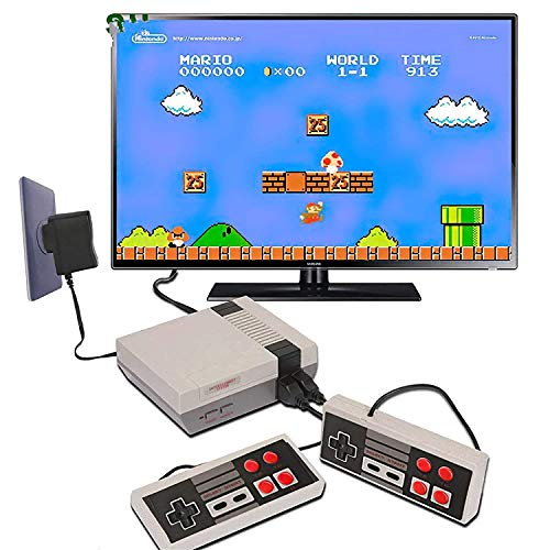 Fusine Pre-Installed 620 Games Mini TV Game Console |Gaming Player AV Output Game Console |Gifts to Kids (Cartridge not Required) | Plug and Play Game