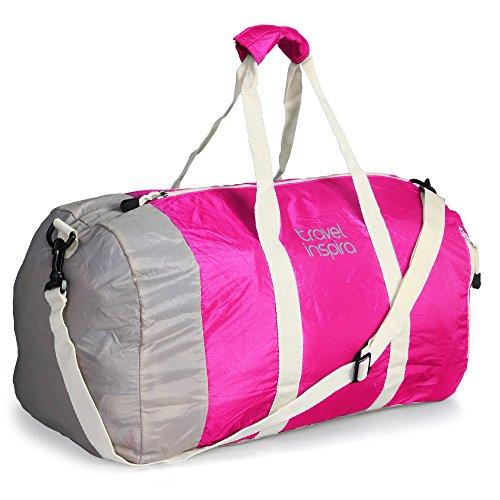 Travel Inspira - Equipaje de viaje plegable bolsa de lona ligera para deportes - (Multicolor)