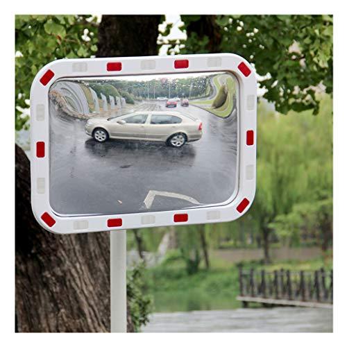 Mlife-Home Verkeersveiligheid Spiegel met Relexion Convex Spiegel Top Reproductie met Seal Observatie Spiegel 60 x 80 cm