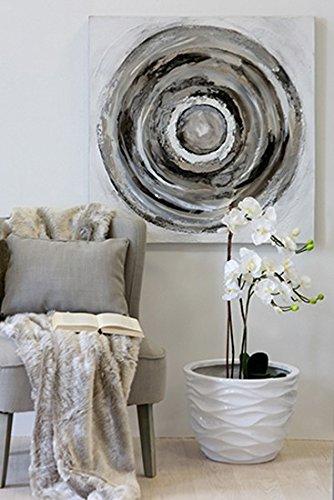 Wandbild 'Circle', 80 cm, weiß-grau-silber - 2
