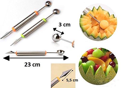 LCN Cuillere A Melon avec Cote Crant - Sculpture Traiteur Decoration - 041