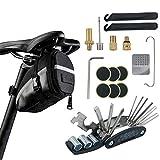Bike Repair Tool Kits with Saddle Bag – Bicycle Multi Tool Puncture Repair