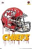 Trends International NFL Kansas City Chiefs - Drip Helmet 20 Wall Poster, 22.375' x 34', Unframed Version