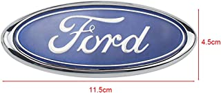 Ruanye For FORD 4.5 Inch Front Grille Tailgate Emblem, 3D Oval Badge OEM For Focus (Blue, 4.5 inch)