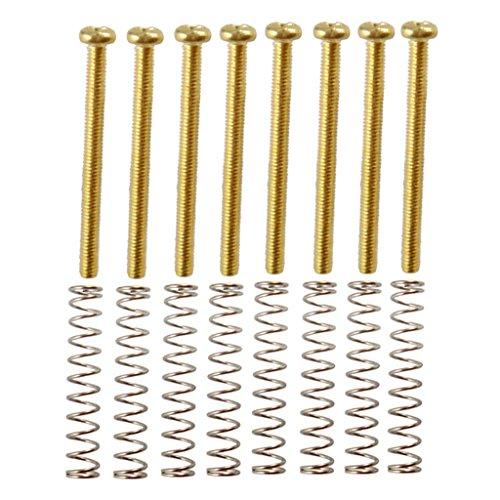 #N/a Humbucker - Juego de 8 tornillos de ajuste para guitarra eléctrica de altura fija con resortes – dorado