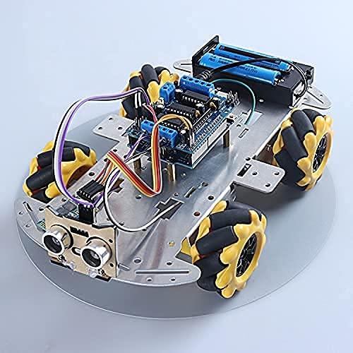 새로운 DIY 전화 통제 로봇 키트 4WD MECANUM 바퀴 및 초음파 센서