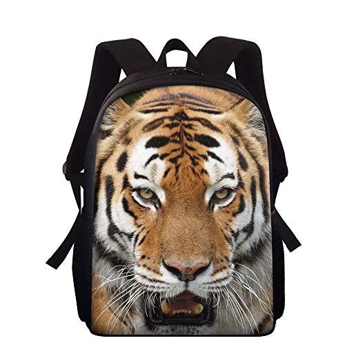 Cool Tiger Backpack Kids Boys Personalized Animal Bookbags for School Rucksacks