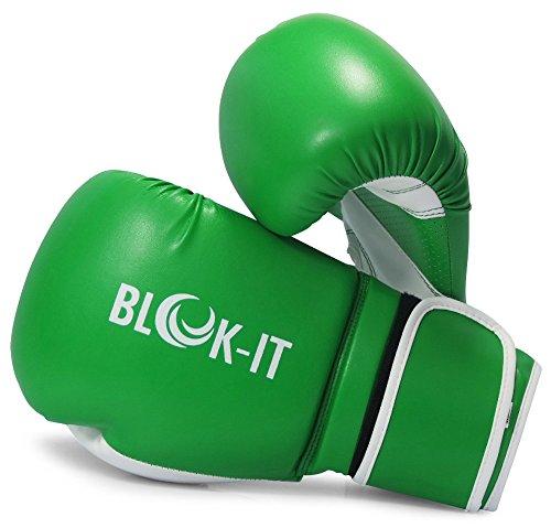 Blok-iT Guantes de Boxeo Especialista en Equipo para Boxeo Pro (Verde,14oz)