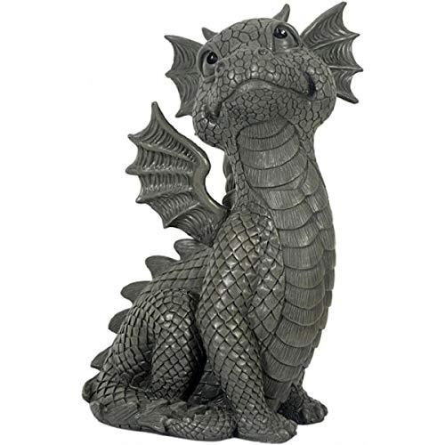 Dragon! Il lève les yeux! Doux! Figure! Jardin!
