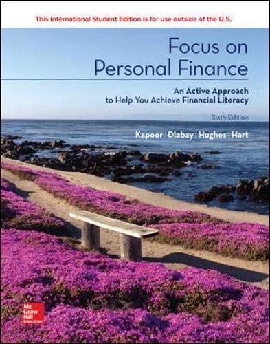 Compare Textbook Prices for Focus On Personal Finance 6th Edition ISBN 9781260091939 by Kapoor