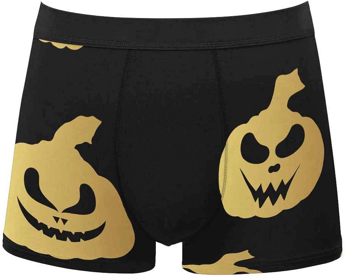 InterestPrint Men's Underwear Classic Fit Boxer for Youth Juniors Boys Halloween Cat