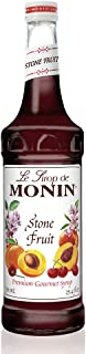 Monin - Stone Fruit Syrup, Sweet Flavor with Peach, Apricot, & Cherry Aroma, Great for Cocktails, Sodas, & Party Punches, Gluten-Free, Vegan, Non-GMO (750 ml)