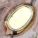 BESPORTBLE Deko Tablett Keramik Servierteller Gold Blatt Serviertablett Dekoschale Schmuckständer dekoteller Schmuckhalter Schale Organizer Tablett für Lebensmittel Schmuck Kosmetik Wohnzimmer Deko - 8