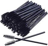 MSQ 50 Stück schwarz Wimpernbürsten Einweg Farbe, Kosmetik Pinsel für Wimpern und Augenbrauen,...