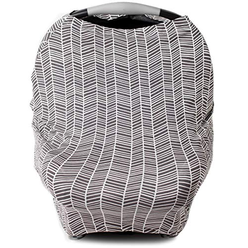 Car Seat Cover for Babies, Nursing Cover, Carseat Canopy - Herringbone