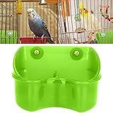 HEEPDD Mangiatoia per Uccelli, Doppia Scodella per Alimenti in plastica Mangiatoia per Cibo per pappagalli Budgie Cockatiel pollame Piccione quaglia (Verde)
