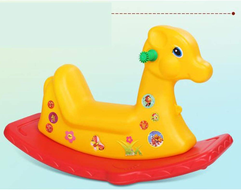 mejor calidad Lindo Animales De Plástico Plástico Plástico Caballo Musical Juguete Paseo En Pony Coches Rodillos Juguetes De Regalo para Los Niños Bebé Niños,amarillo  buscando agente de ventas