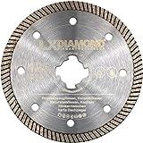 LXDIAMOND Disco de corte de diamante X-LOCK de 125 mm para gres porcelánico, azulejos, piedra natural, compatible con amoladora angular Bosch X-Lock de 125 mm
