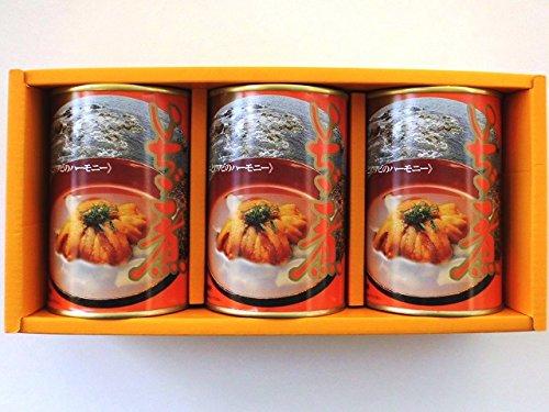 みなみや いちご煮 415g×3缶入 【ウニとアワビの潮汁】【炊き込みご飯】 青森県郷土料理 ご贈答用化粧箱『北のたより』に詰めてお届け致します。