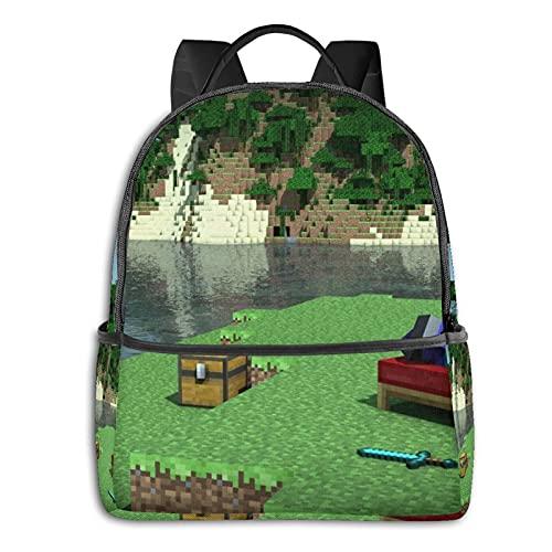 Mi-Necraft - Mochila para adolescentes y niñas, mochila para aligerar la escuela, multiusos, bolsa de hombro para nadar y viajar