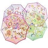 ZHONGTAI Ombrello Pieghevole Mini Scherza l'ombrello Danza dei Bambini Props Craft Ricamo Umbrella Umbrella Stage Performance Ombrello Antivento (Dimensione :...
