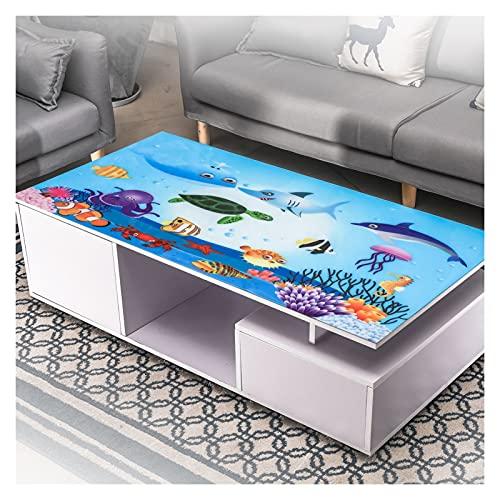 Tavolino da caffè Tovaglia Impermeabile PVC Bambino Copriscrivania Animale Modello Resistenza alle Alte Temperature Tovaglietta, Personalizzabile (Color : A, Size : 60x150cm)