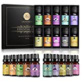 Lagunamoon Essential Oils Top 10 Gift Set Pure Essential Oils Gift Set for Diffuser, Humidifier, Massage, Aromatherapy, Skin & Hair Care