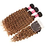 Best Grade Of Human Hair Weaves - Haha Ombre Bundles with Closure Ombre Brazilian Deep Review