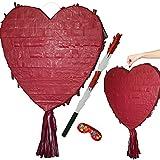Juego de piñata en forma de corazón para bodas, fiestas de compromiso o cumpleaños, personalizable