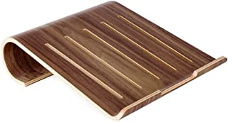 Laptop Stand, Non-slip Computer Cooling Rack Wooden Simple And Portable (2 Colors Optional) (Color : Dark)