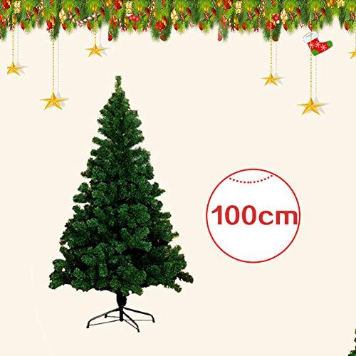 CAIXIN árbol De Navidad Artificial Árbol De Navidad,Apagado Eco-amistoso Decoración Cifrado Arbol De Navidad Madera con Patas De Metal Sólidas-a 100cm(39inch)